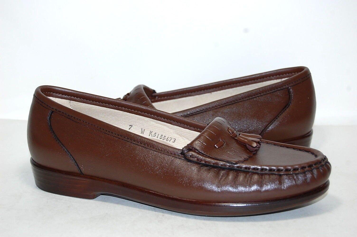 Original SAS Softie Antique Walnut Leather W Wide 0038-068 0038-068 0038-068 Women 89de33