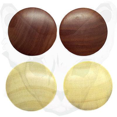 Flesh Tunnel Plug Organic Wood Saddle Fit Ear Piercing Double Flared Ear Tube