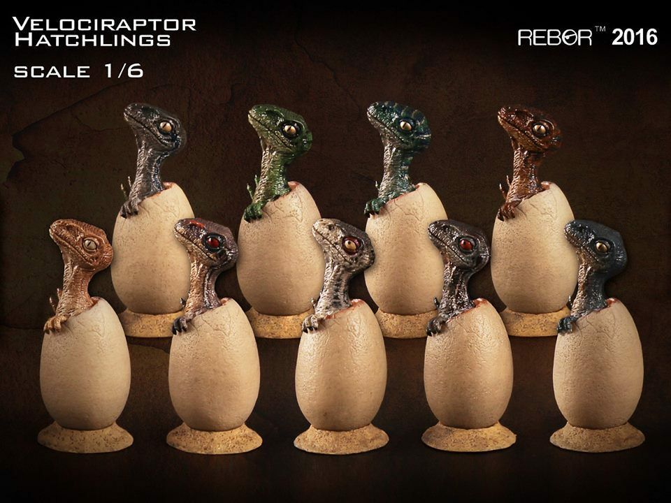 REBOR Set of 9 Dinosaur Collectables 1 6 Scale Velociraptor Hatchlings