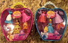 Disney Princess MagiClip BELLE & CINDERELLA Fashion Bag With 3 Dress clips -NEW
