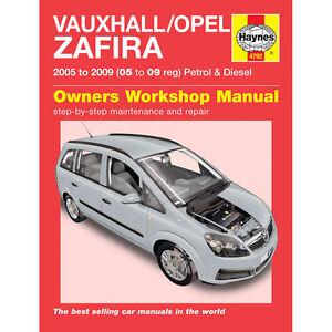 Vauxhall-Zafira-Haynes-Manual-2005-09-1-6-1-8-2-2-Petrol-1-9-Diesel