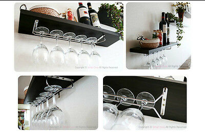 "Wine Glass Rack Home Kitchen Dining Bar Tool Shelf Holder Hanger 11.8"" 15.7"" DIY"
