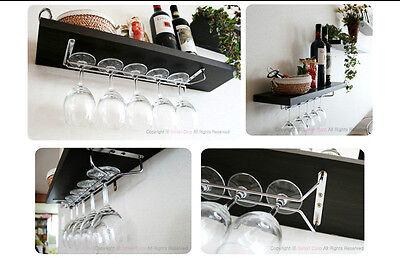 "Wine Glass Rack Home Kitchen Dining Bar Tool Shelf Holder Hanger 11.8"" 15.7"" DIY"