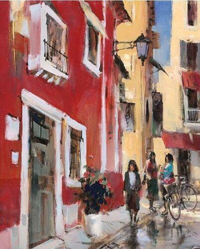 Buon Giorno Keilrahmen-Bild Leinwand Strassenszene Italien Brent Heighton