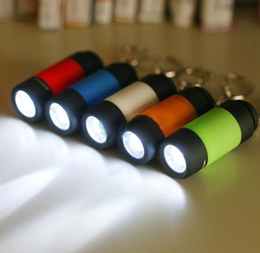 Portable Rechargeable USB Mini LED Keychain Light Pocket Flashlight Lamp Torch