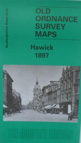 OLD ORDNANCE SURVEY MAPS SCOTLAND HAWICK 1897 Sheet 25.07 Godfrey Edition New
