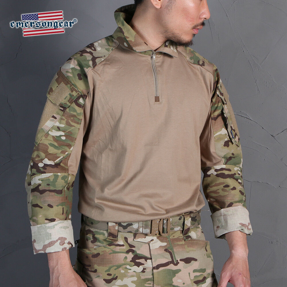 Emerson bluee Label G3  Combat Shirt Camo Mens Tactical Tops Hunting BDU Shirt  in stadium promotions