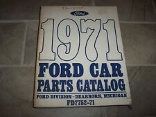 1971 Ford Mustang Parts Catalog Manual Convertible Grande Mach 1 Boss 351 Cobra