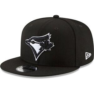 Toronto-Blue-Jays-New-Era-9Fifty-Black-White-Logo-On-Field-Snapback-Hat-Cap-MLB