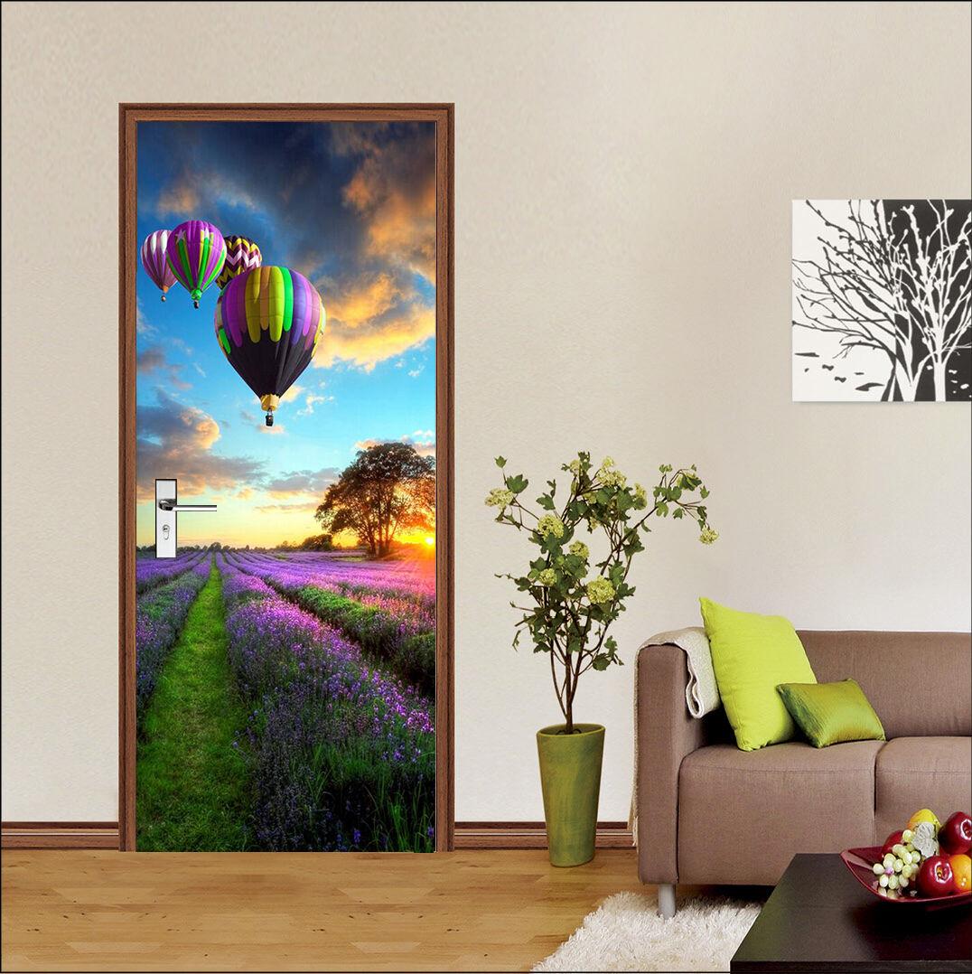 3D Lavendel 73 Tür Wandmalerei Wandaufkleber Aufkleber AJ WALLPAPER DE Kyra