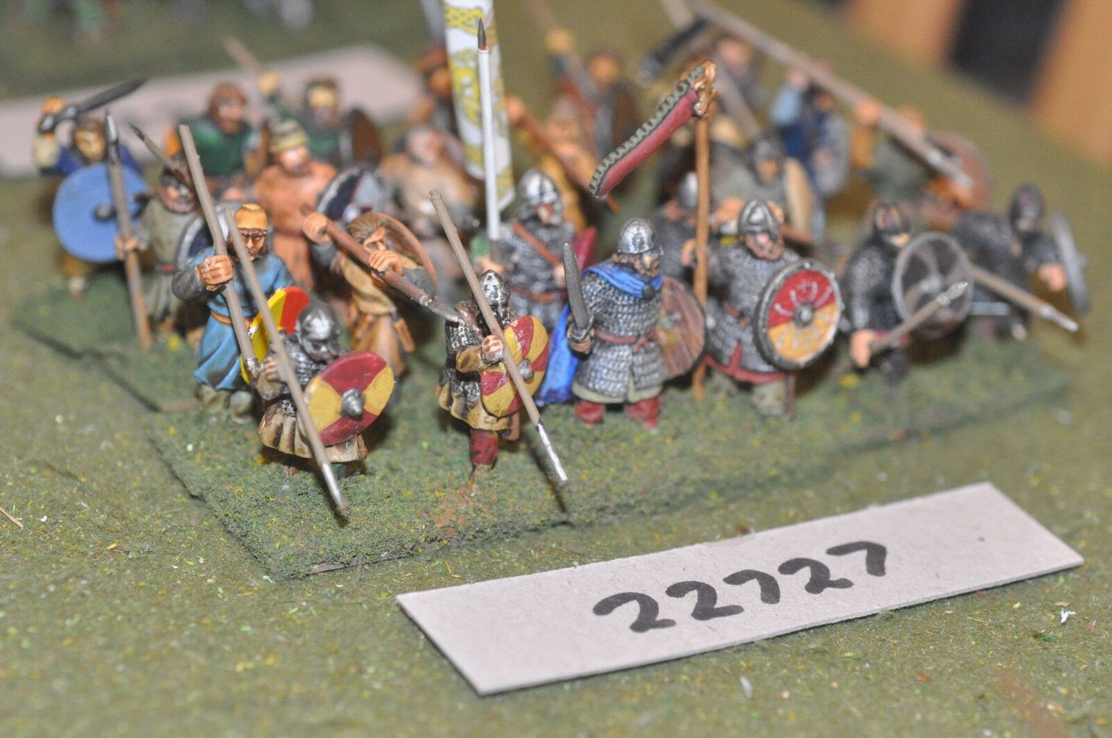 25mm dark ages   anglo saxon - spearmen 24 figs inf - inf (22727)
