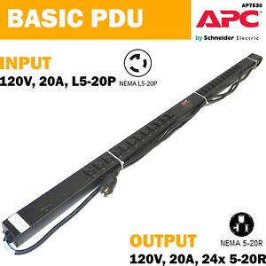 APC AP7530 Rack PDU Basic Zero U 20A 120V L5-20P 24x 5-20