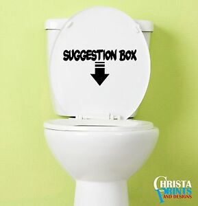 Image Is Loading SUGGESTION BOX Funny BATHROOM WALL ART QUOTE DECOR
