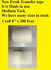 1 Roll 8 X 300 Feet Application Transfer Tape Vinyl Sign Adhesive Made In Usa