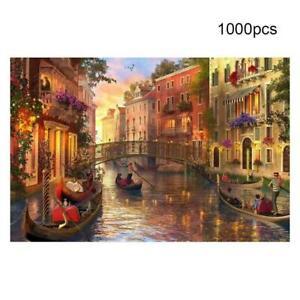 Adulte-1000-pieces-Mini-Puzzle-Coucher-de-soleil-a-Venise-Jouet-Jeu-de-decompression-K7I3