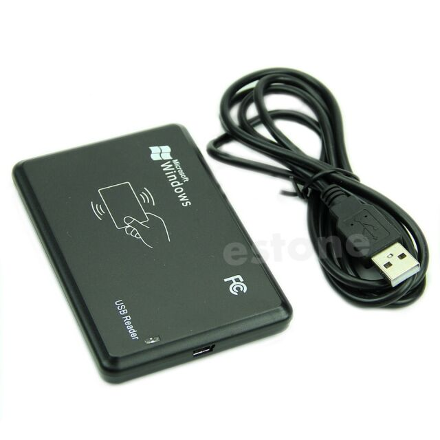 USB RFID ID 125Khz EM4100 Windows Contactless Proximity Sensor Smart Card Reader
