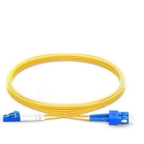 4323 10m LC UPC to SC UPC Duplex 2.0mm PVC 9//125 Single Mode Fiber Patch Cable