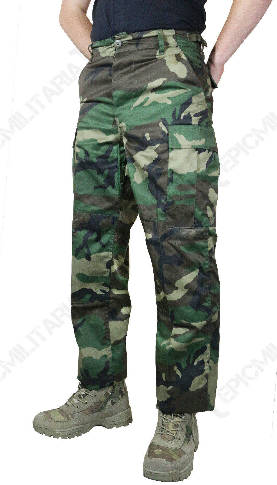 US BDU Woodland Camouflage Combat Trousers - All Sizes Military Camouflage Pants