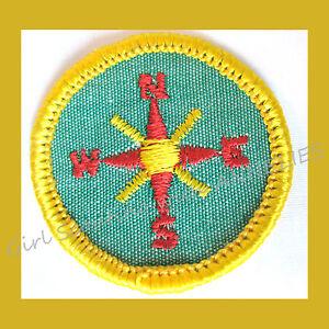 Details about EXPLORER Cadette Girl Scout RARE Badge Compass Orienteering  1963 Combine Ship