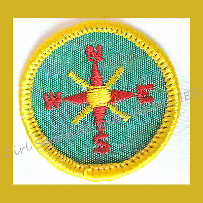 GROUP SPORTS Girl Scout Worlds to Explore NEW Badge 1980 VOLUME DISCOUNT