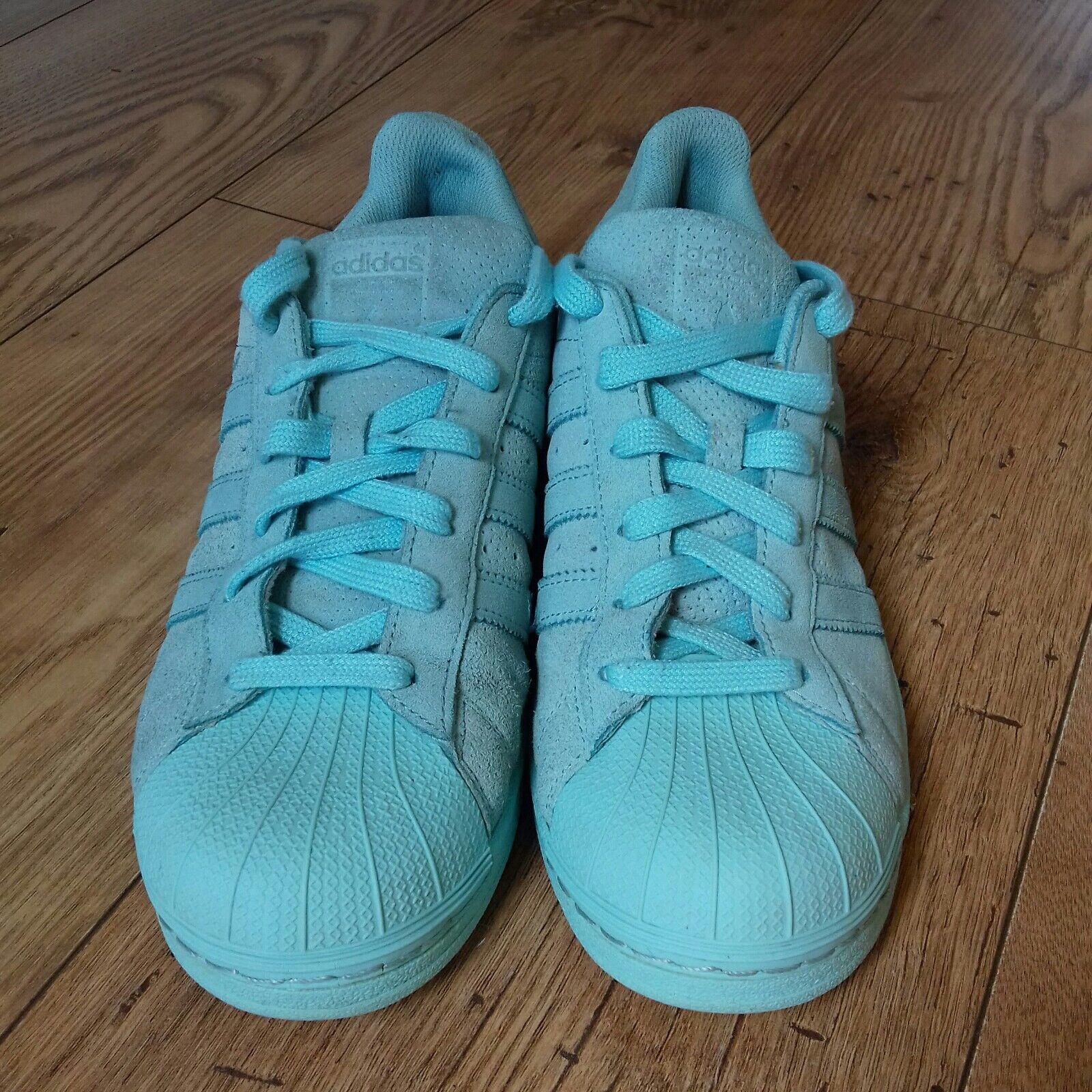 Bleu Clair Adidas Superstar Baskets Taille 6.5