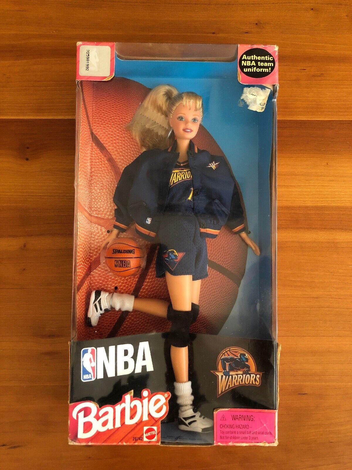 NBA San Francisco Dorado Guerreros del Estado Rara Muñeca Barbie Nuevo 1998 la ciudad