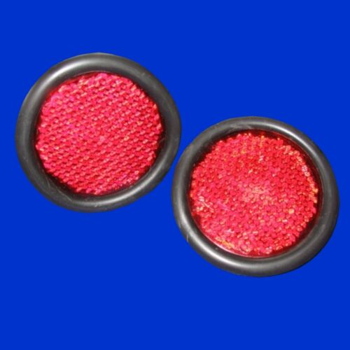 2 Stck Katzenauge rot rund Reflektor Rückstrahler  50 o 75mm f Trecker Schlepper