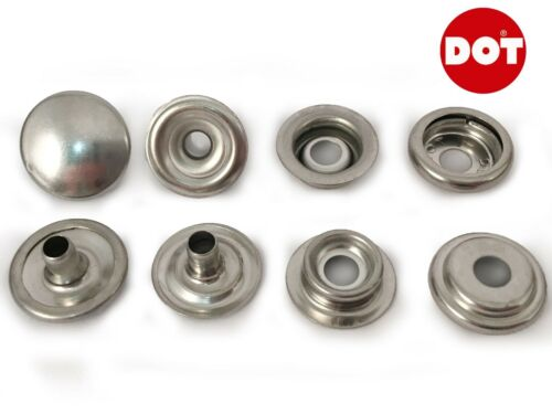 10x Genuine DOT Stainless Steel Stud Boat Canopy Canvas Fastener Kit With Tools