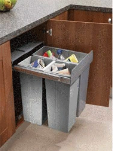 Lighting Innovations 68l Recycle Bin, Kitchen Cupboard Waste Bin