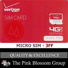 Verizon Wireless Micro 4g LTE SIM Card 3ff for Apple iPad 3