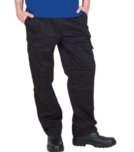 Mens Premium 305 g//m² Work Wear Combat Cargo Trousers Workwear+KNEE PAD POCKETS
