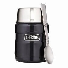 Thermos Stainless Steel Vacuum Food Flask Jar & Spoon 0.47L Blue-  183270