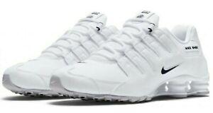 Nike-Shox-NZ-EU-White-Black-501524-106-Running-Shoes-Men-039-s-Size-11