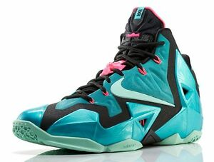 premium selection 26203 e1fd2 Image is loading DS-Nike-LeBron-XI-11-South-Beach-size-