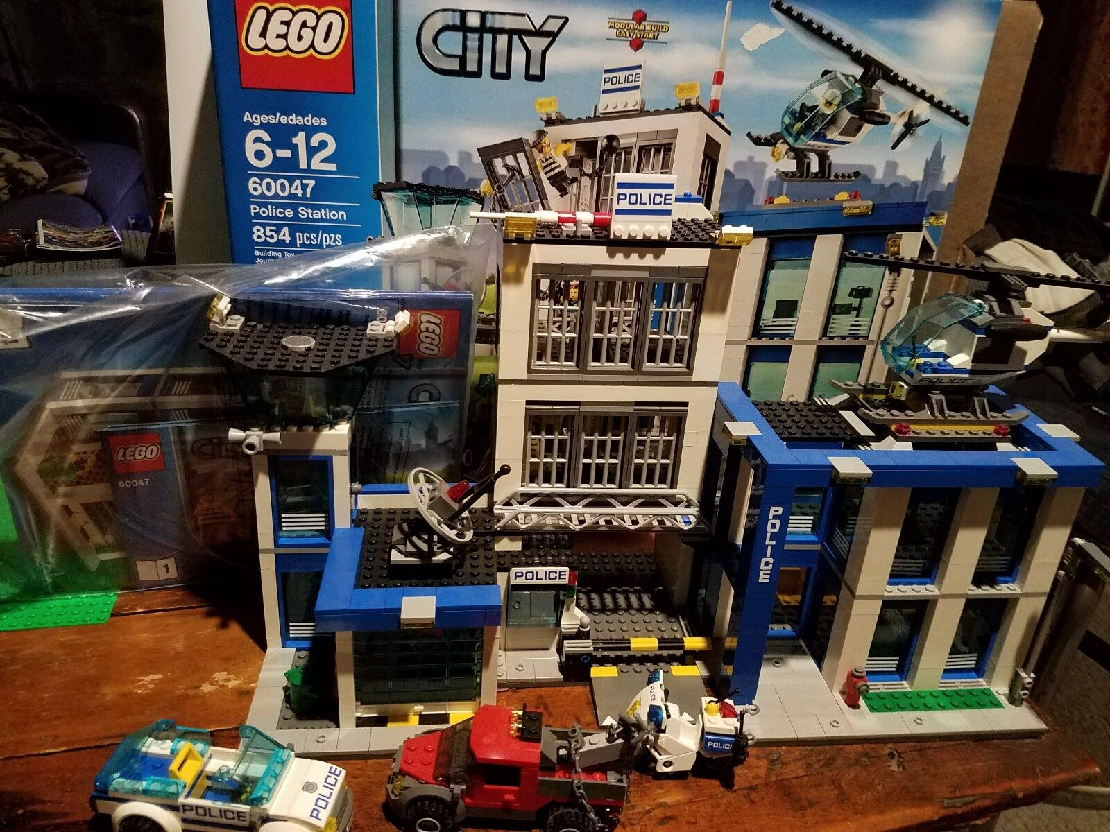 Lego city police station (60047) keine minifigures
