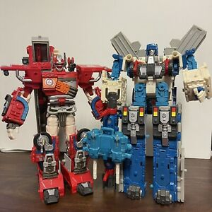 Transformers RID Optimus Prime Ultra Magnus - God Fire Convoy Robots In Disguise