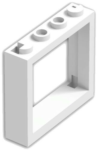 ☀️ NEW LEGO WHITE Window 1x4x3 No Shutter Tabs Lot of 12 Parts Pieces #60594