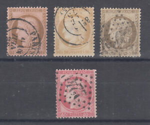 France-Sc-60-63-used-1872-75-Ceres-cplt-set-30c-with-small-tear-nice-cancels