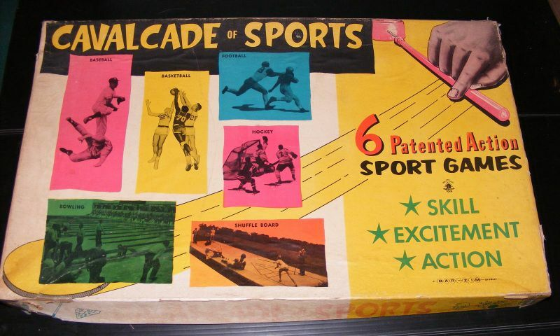 RARE Cavalcade of Sports Board Game by Bar-Zim