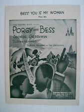 Bess You Is My Woman (Sheet Music - Porgy and Bess); 1935 CLEARANCE PRICE
