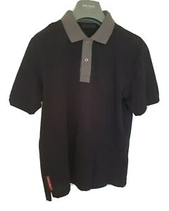Mens-uber-chic-PRADA-short-sleeve-polo-shirt-Size-large-medium-RRP-210