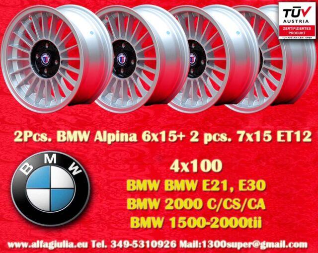 2 Wheels Bmw Alpine 6x15 2 Pcs 7x15 4x100 E30 E21 Wheels Felgen Llantas Jante