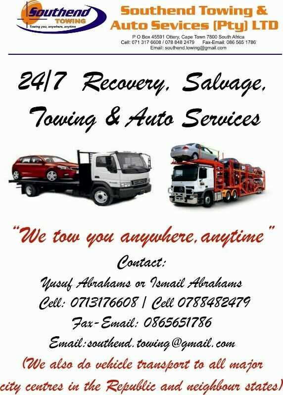 Same Day Auto >> 24 7 Recovery Salvage Towing Auto Services Cape Town