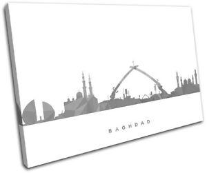 Baghdad-Skyline-Geometric-Modern-City-SINGLE-CANVAS-WALL-ART-Picture-Print