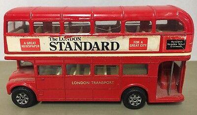 """Vintage London Die Cast Bus Double Decker Corgi 4"""" x 2.5"""" Standard Miniature"""