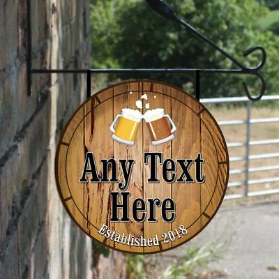HOME BAR free p/&p Man Cave Dog House personnalisé Hanging Pub Sign