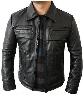 Classyak Mens Fashion Black Suede Leather Jacket Xs-5Xl
