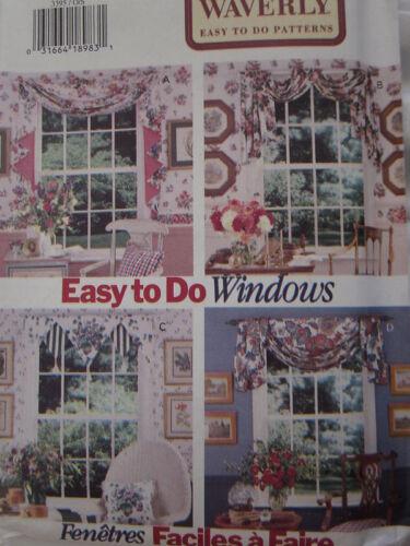 Vintage Butterick SEWING Pattern 3395 Waverly Window Scarfs UNCUT OOP