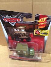 """DISNEY CARS DIECAST - """"Pit Crew Member Sarge"""" - New 2015 Card - Combined Postage"""