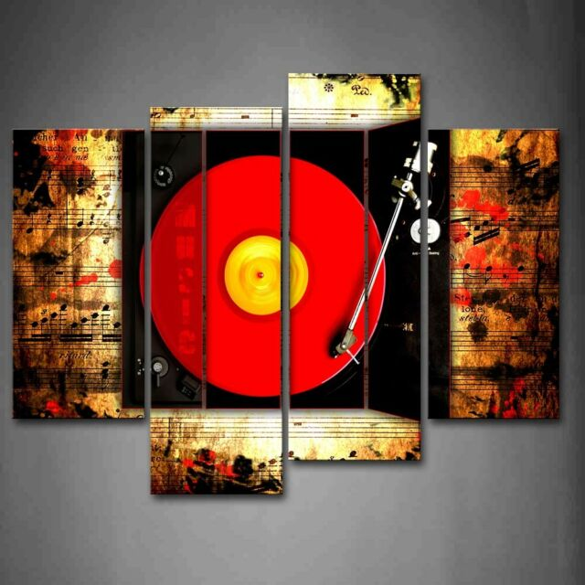 THE BEATLES BAND MULTICOLOUR MODERN DESIGN CANVAS PRINT 4 PANELS READY TO HANG